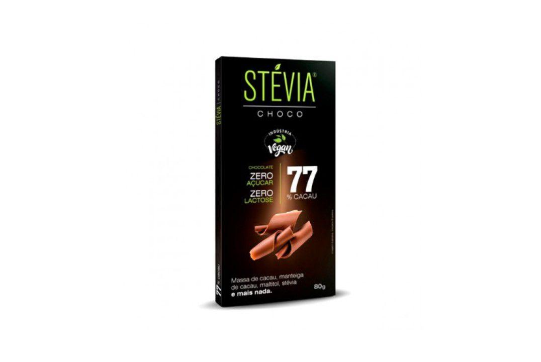 Chocolate Steviachoco 77% 80G  - Mundo Cerealista