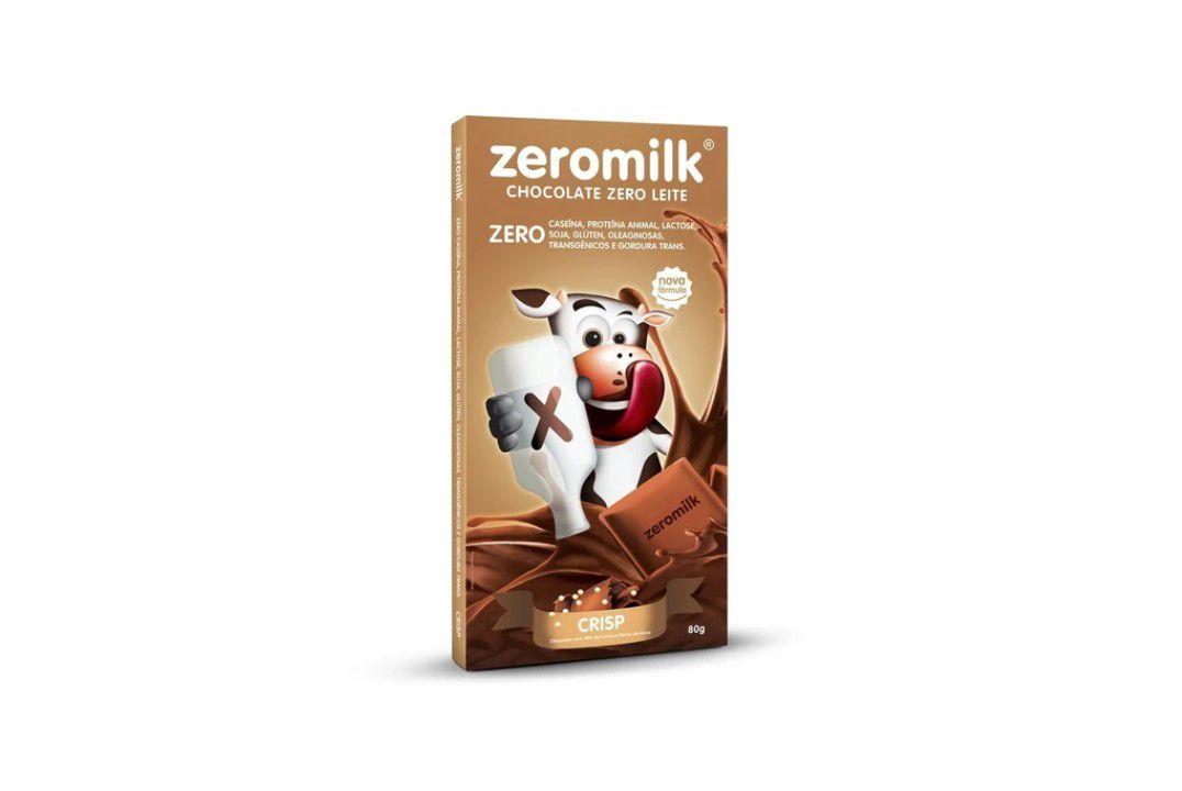 Chocolate Zeromilk Crisp 80 gr  - Mundo Cerealista