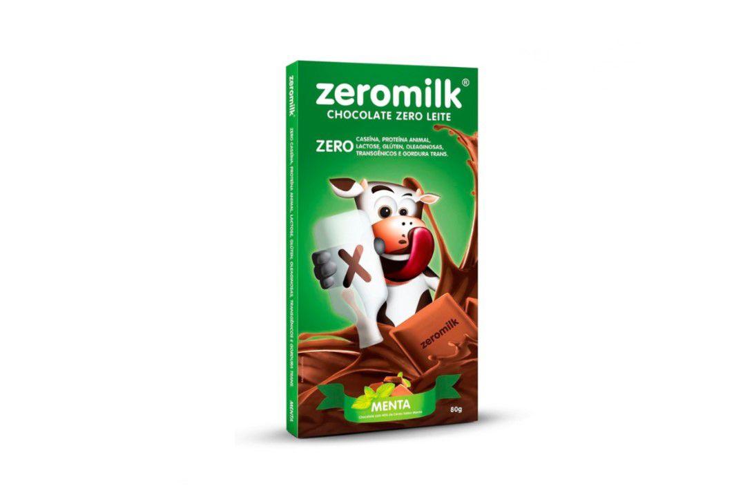 Chocolate Zeromilk Menta 80Gr  - Mundo Cerealista
