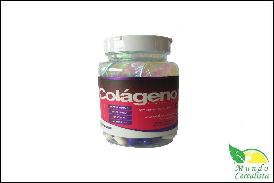 Capsulas de Colágeno Genisis - 60 Caps - 500 Mg  - Mundo Cerealista