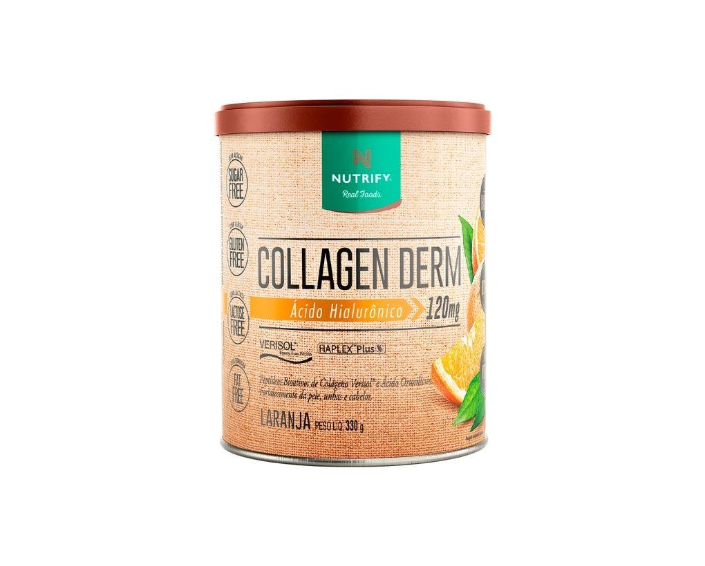 Colágeno Hidrolisado com Verisol e Ácido Hialurônico sabor Laranja - Collagen Derm - Nutrify 330 Gr  - Mundo Cerealista