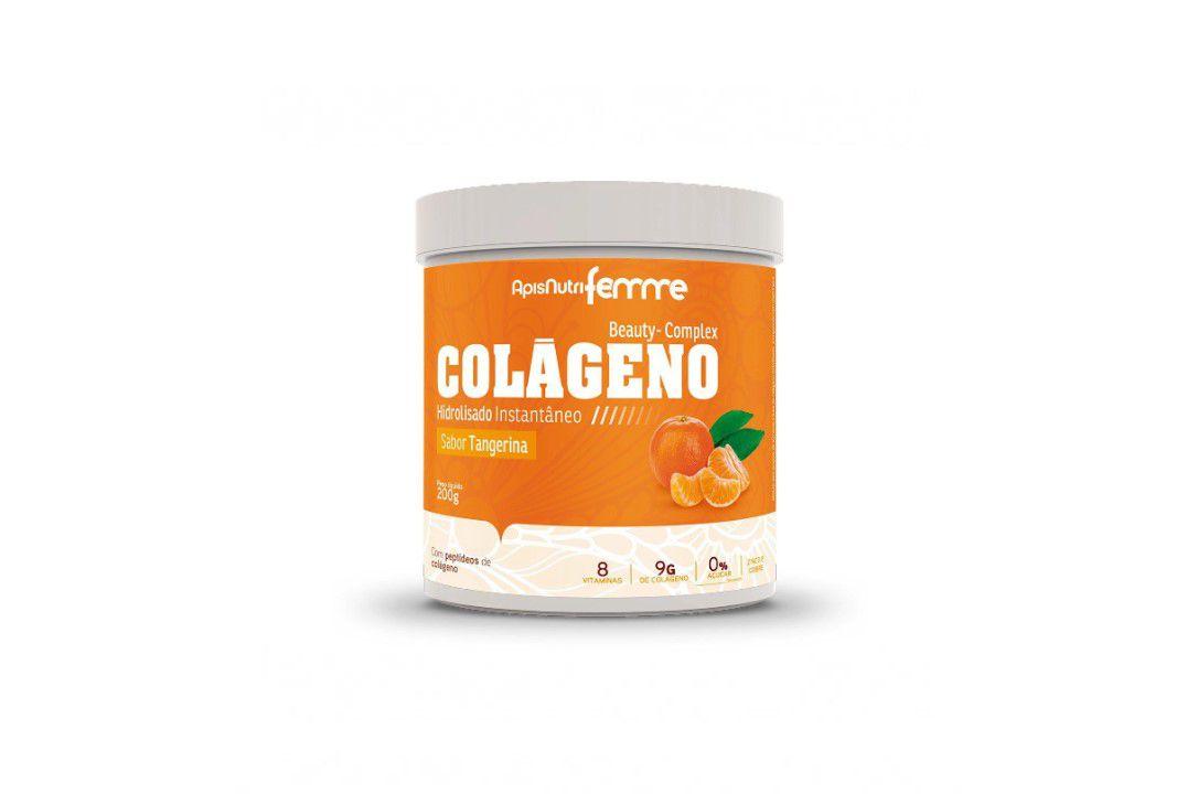 Colágeno Hidrolizado (Sabor Tangerina) 200Gr- Apisnutri  - Mundo Cerealista