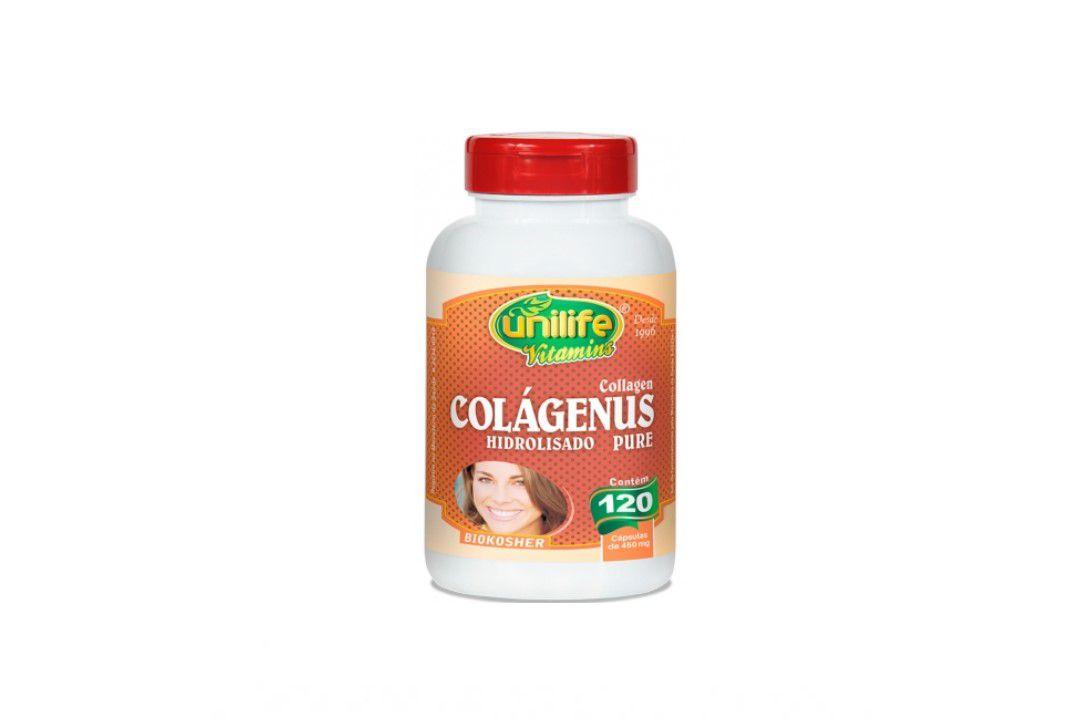 Colágeno Pure Hidrolizado 450 Mg120 Caps - Unilife  - Mundo Cerealista