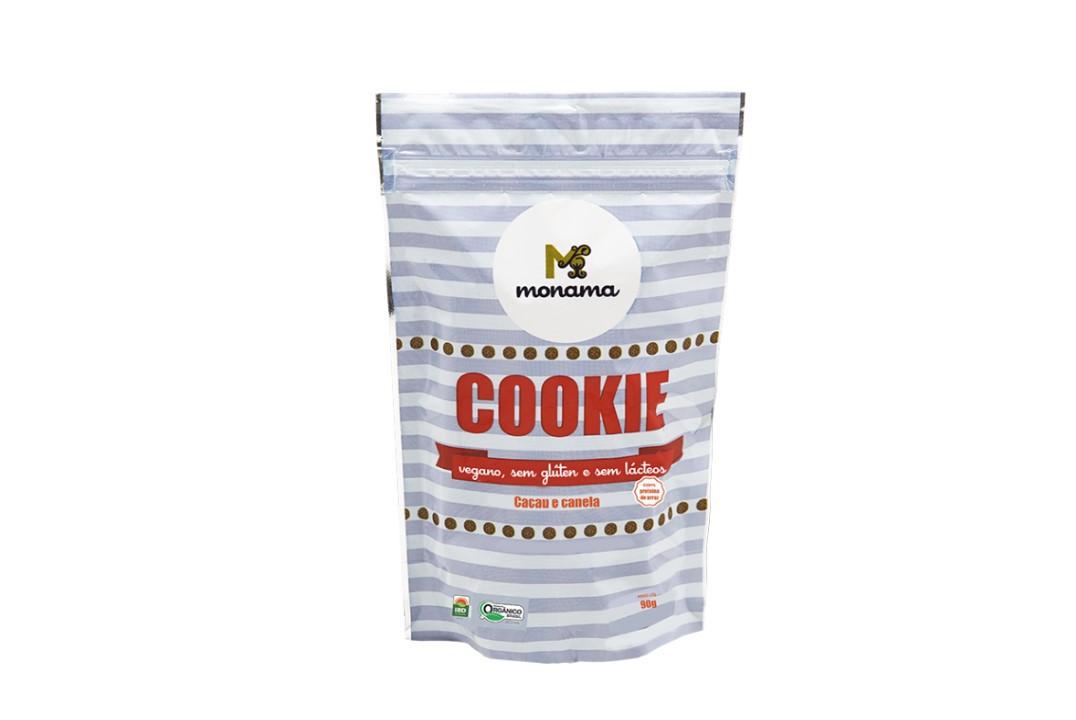 Cookie Cacau e Canela Sem Glúten Orgânico 90g - Monama  - Mundo Cerealista
