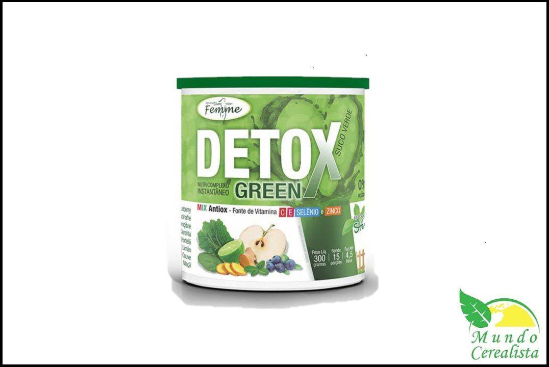 Detox Green 300Gr Suco Verde Apisnutri  - Mundo Cerealista