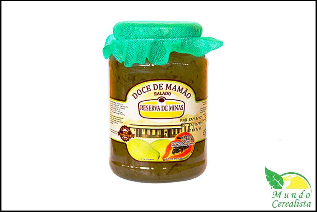 Doce de Mamão Ralado 640 Gr - Reserva de Minas  - Mundo Cerealista