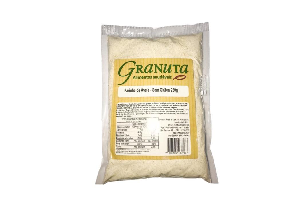 Farinha de Aveia SEM GLÚTEN 200g - Granuta   - Mundo Cerealista