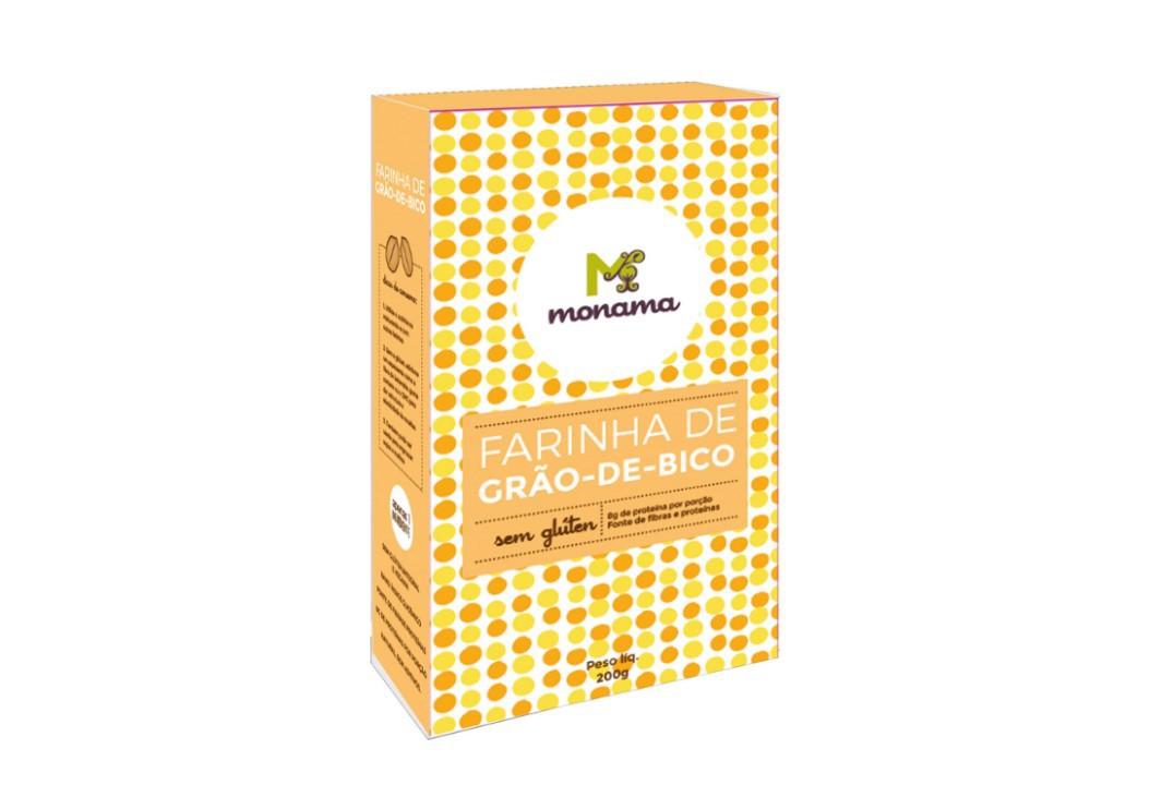 Farinha de Grão de Bico Sem Glúten 200g - Monama  - Mundo Cerealista