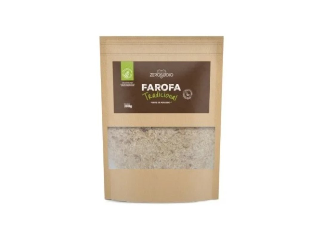 Farofa Tradicional SEM SÓDIO 300g - ZEROSODIO  - Mundo Cerealista
