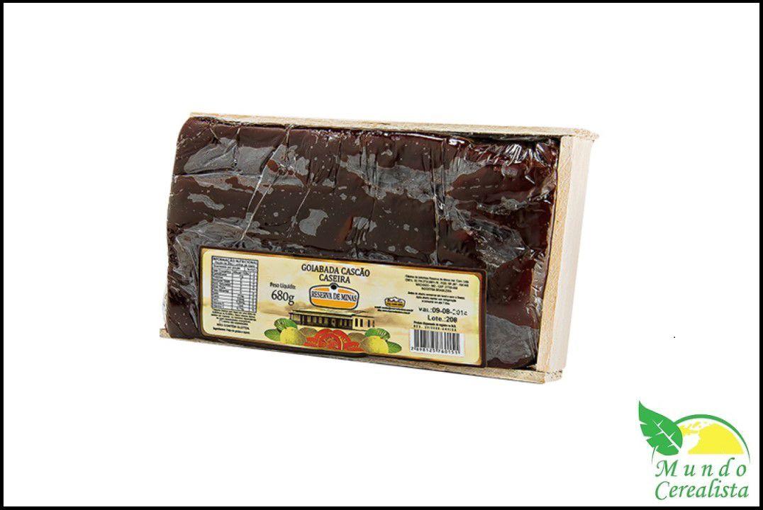 Goiabada Cascão (na caixa de madeira) 680 Gr - Reserva de Minas  - Mundo Cerealista