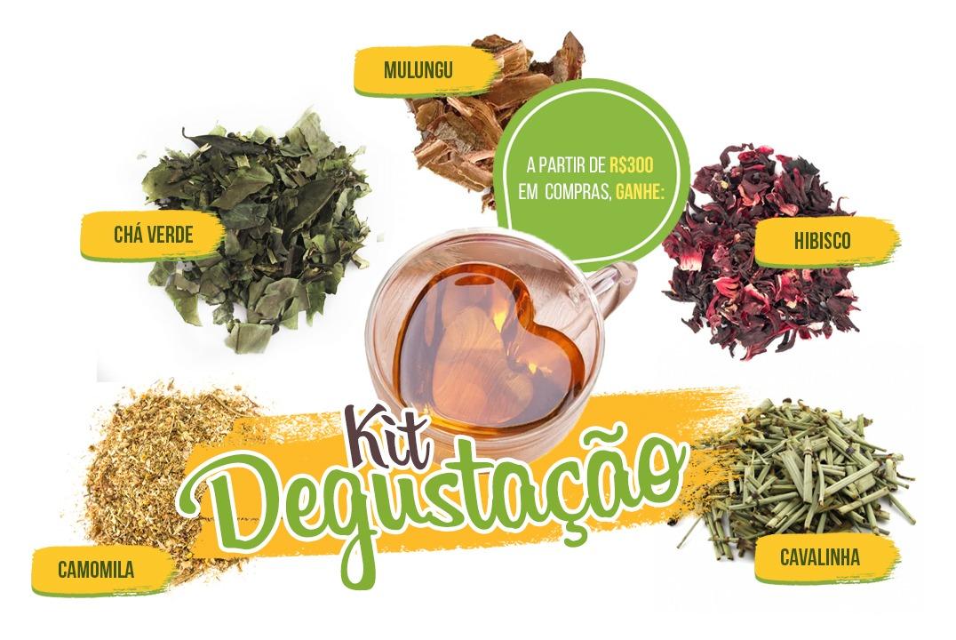Kit Degustação de Chás - Brinde  - Mundo Cerealista