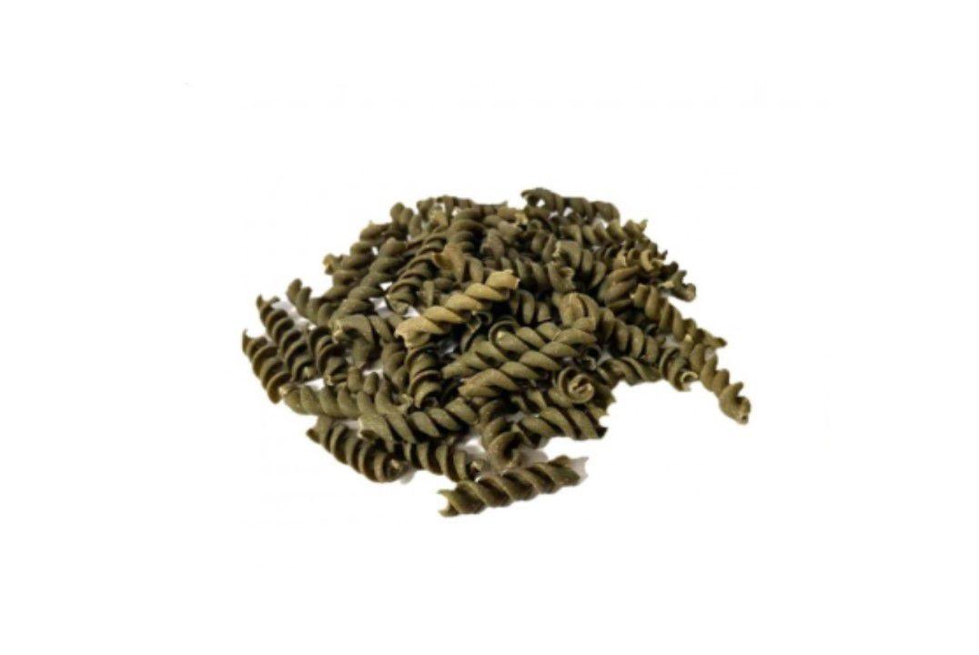 Macarrão Espiral (Parafuso) Integral Espinafre - Granel  - Mundo Cerealista