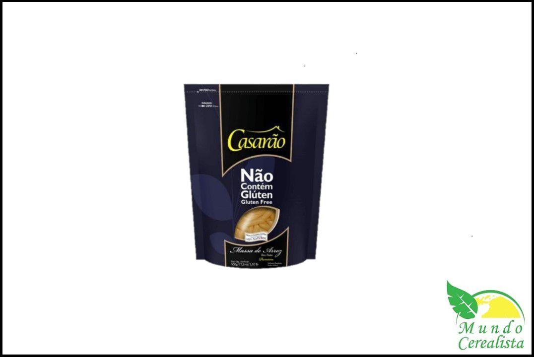 Macarrão Penne Sem Glúten Casarão - 500 Gr  - Mundo Cerealista