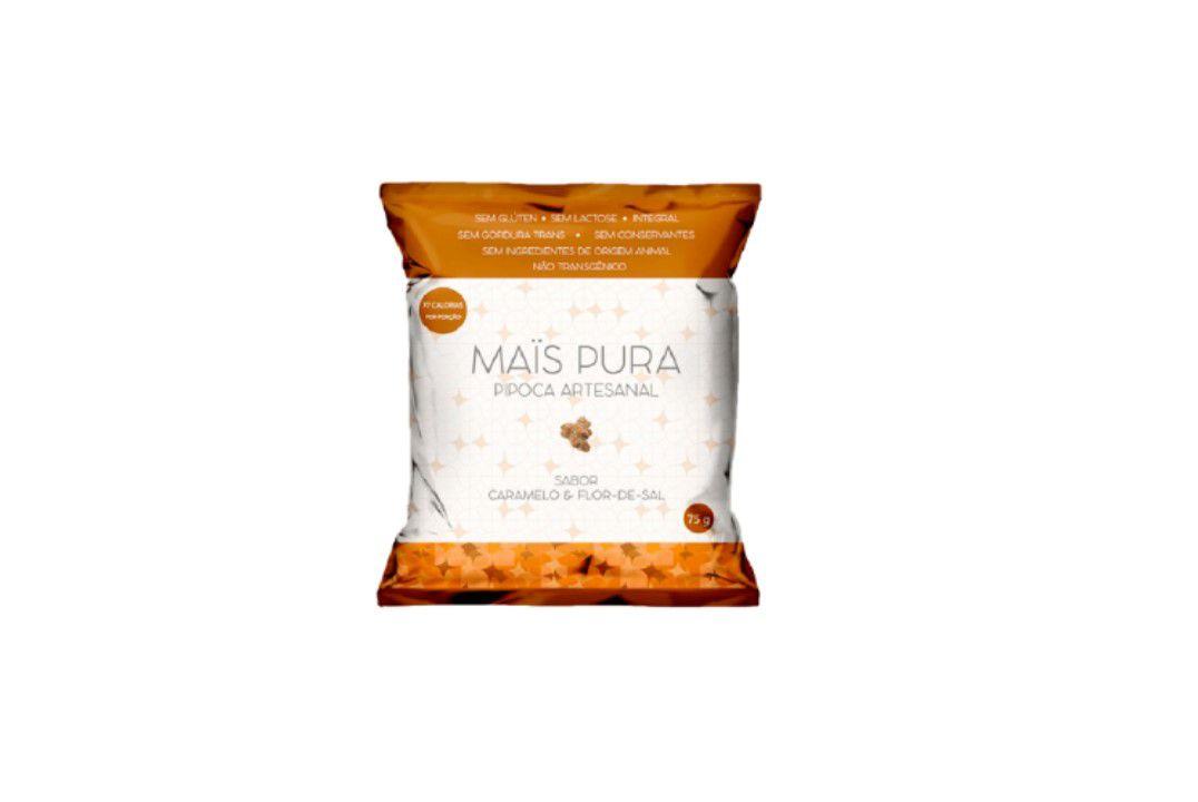 Pipoca Mais Pura Sabor Caramelo E Flor De Sal 150G  - Mundo Cerealista