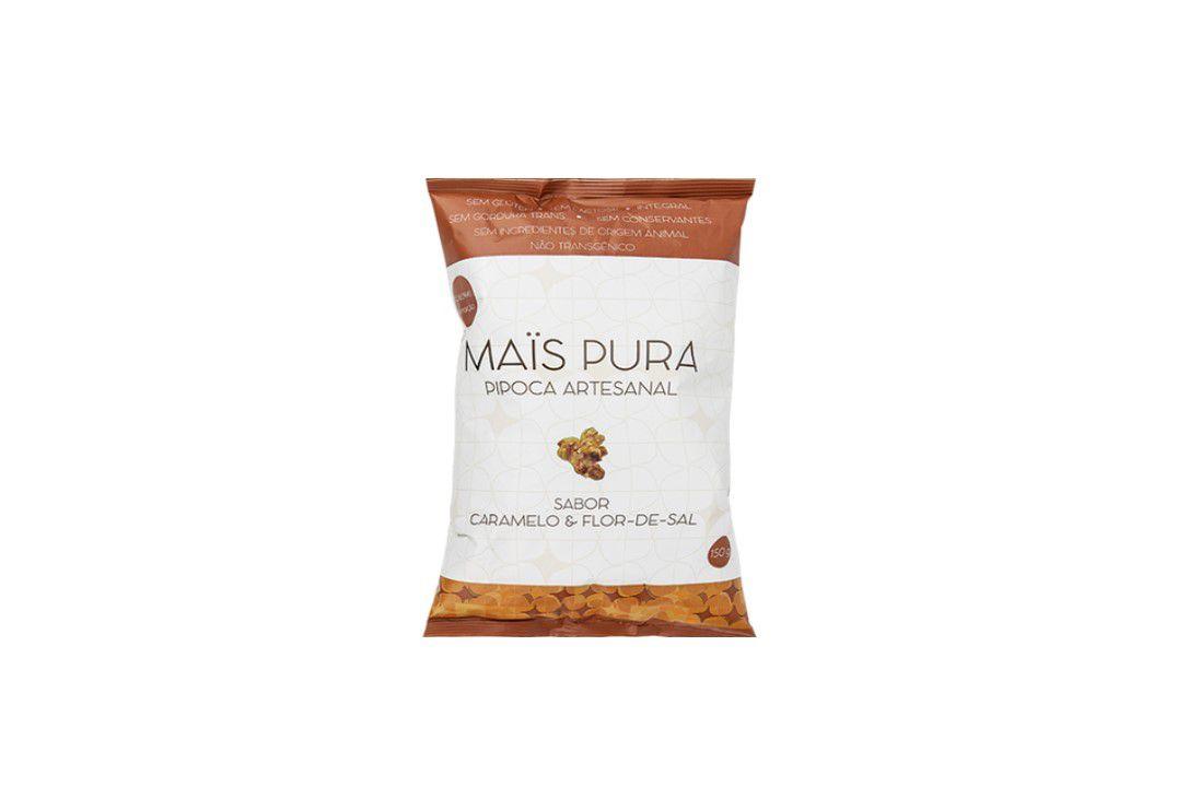 Pipoca Mais Pura Sabor Caramelo e Flor De Sal  75 gr  - Mundo Cerealista