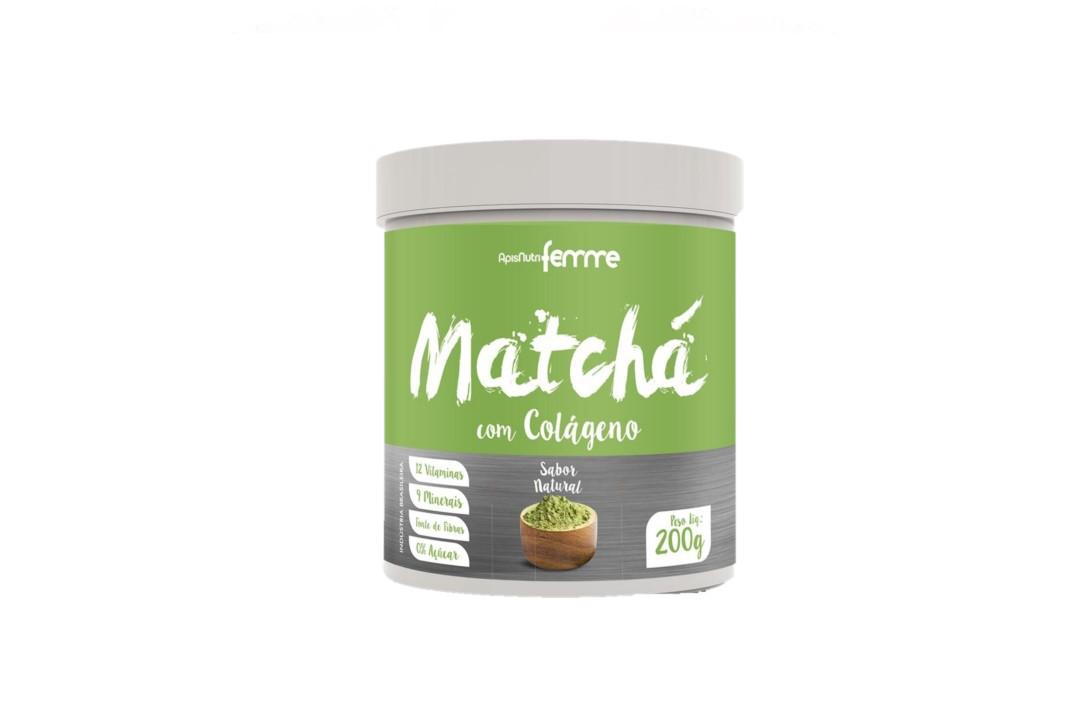 Matcha com Colágeno sabor Natural Apisnutri 200Gr  - Mundo Cerealista