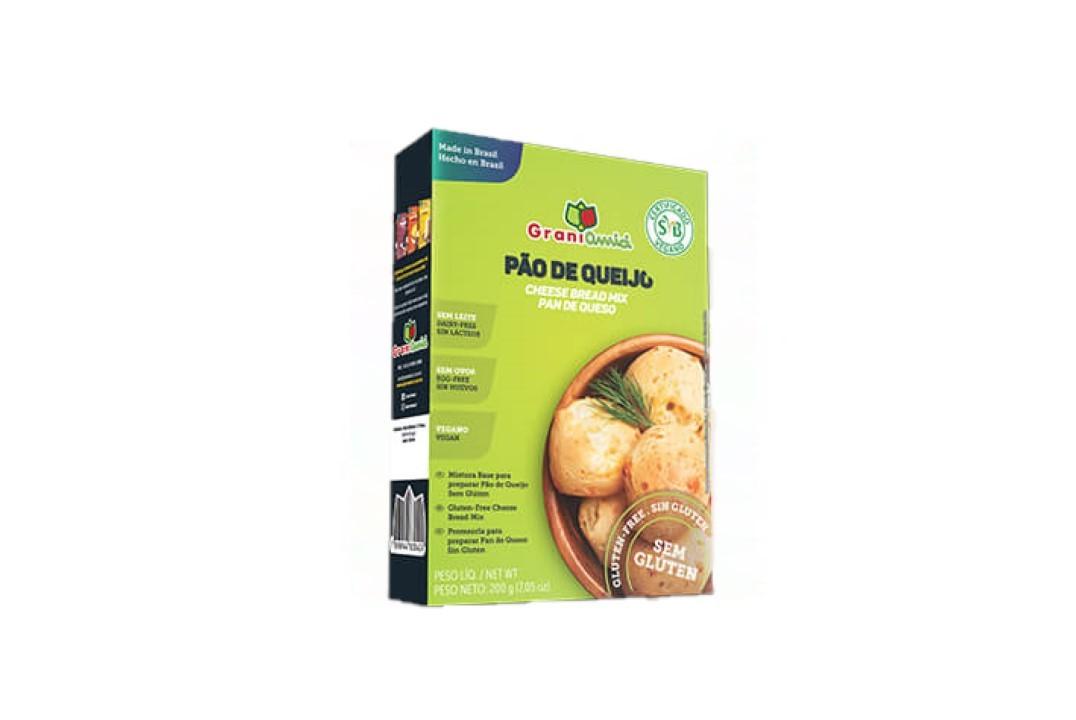 Mistura para Pão de Queijo Sem glúten Vegano 200g - Grani Amici  - Mundo Cerealista