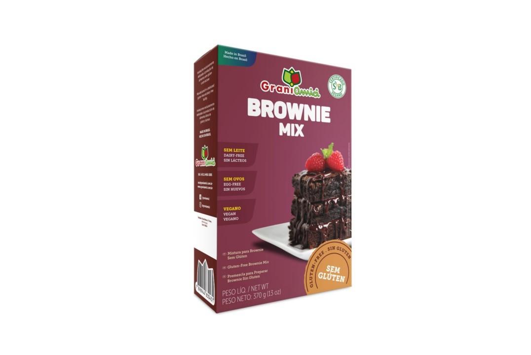 Mix para Brownie Sem Glúten 370g - Grani Amici  - Mundo Cerealista