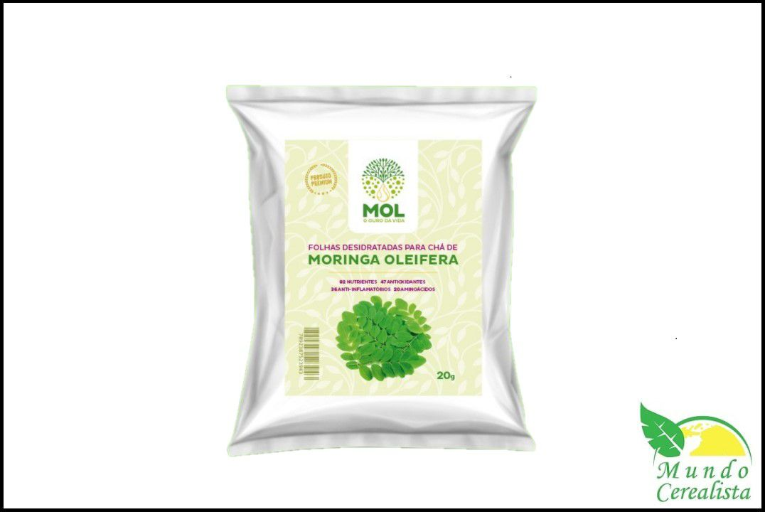 Moringa Oleifera em Folhas - 20 gr - Mol  - Mundo Cerealista