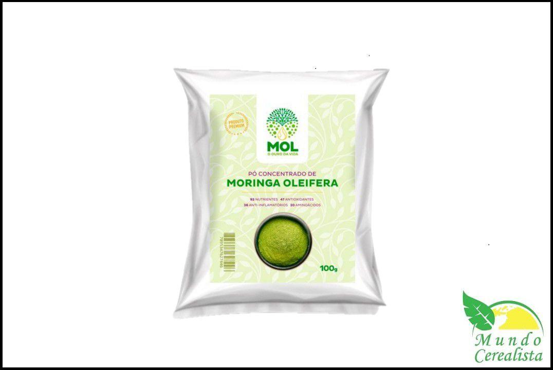 Moringa Oleifera em Pó Concentrado - 100 Gr - Mol  - Mundo Cerealista