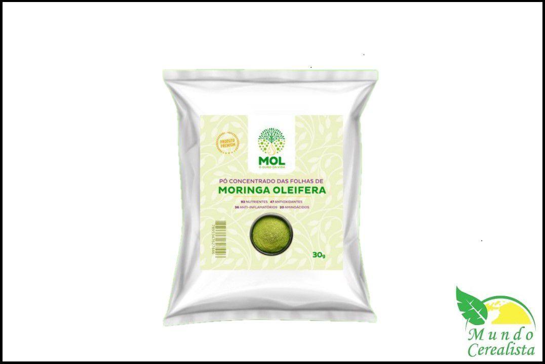 Moringa Oleifera em Pó Concentrado - 30 Gr - Mol  - Mundo Cerealista