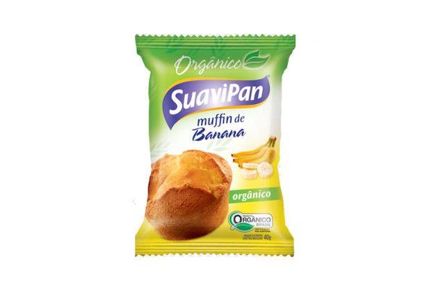 Muffin De Banana Orgânico 40G - Suavipan  - Mundo Cerealista