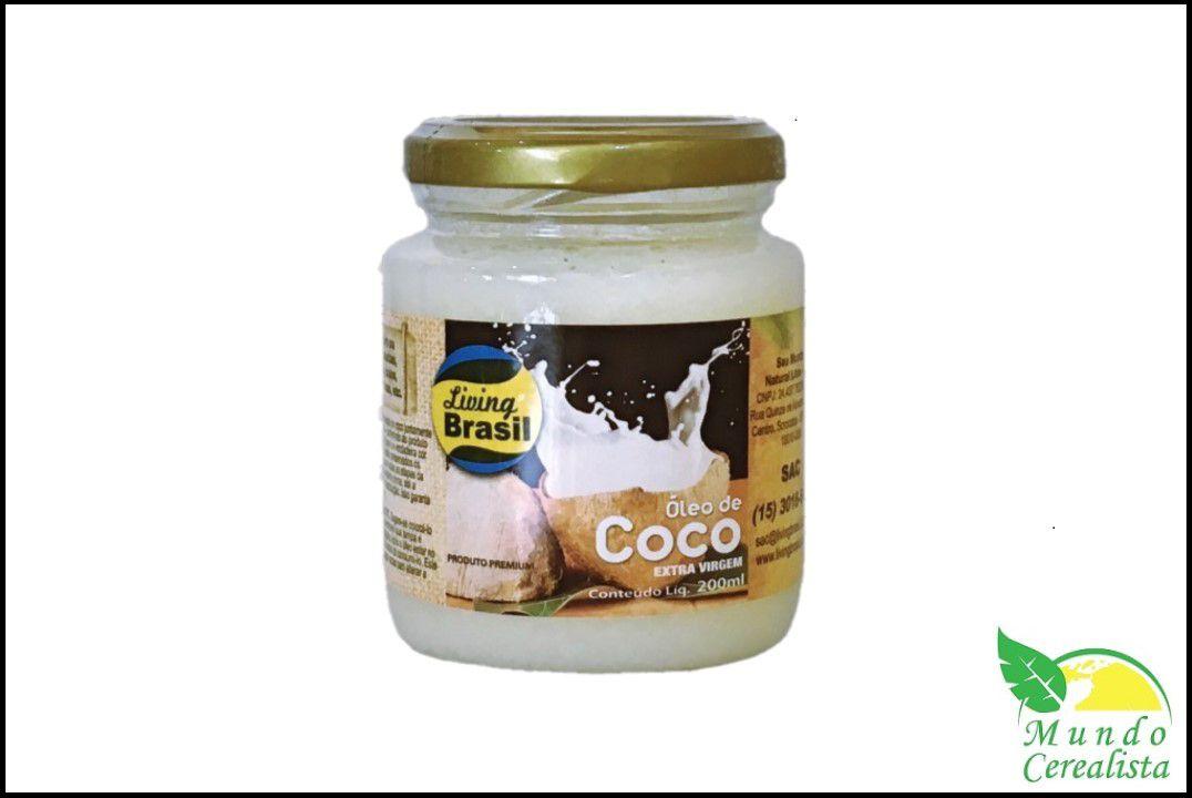 Óleo de côco 200 ml - Living Brasil  - Mundo Cerealista