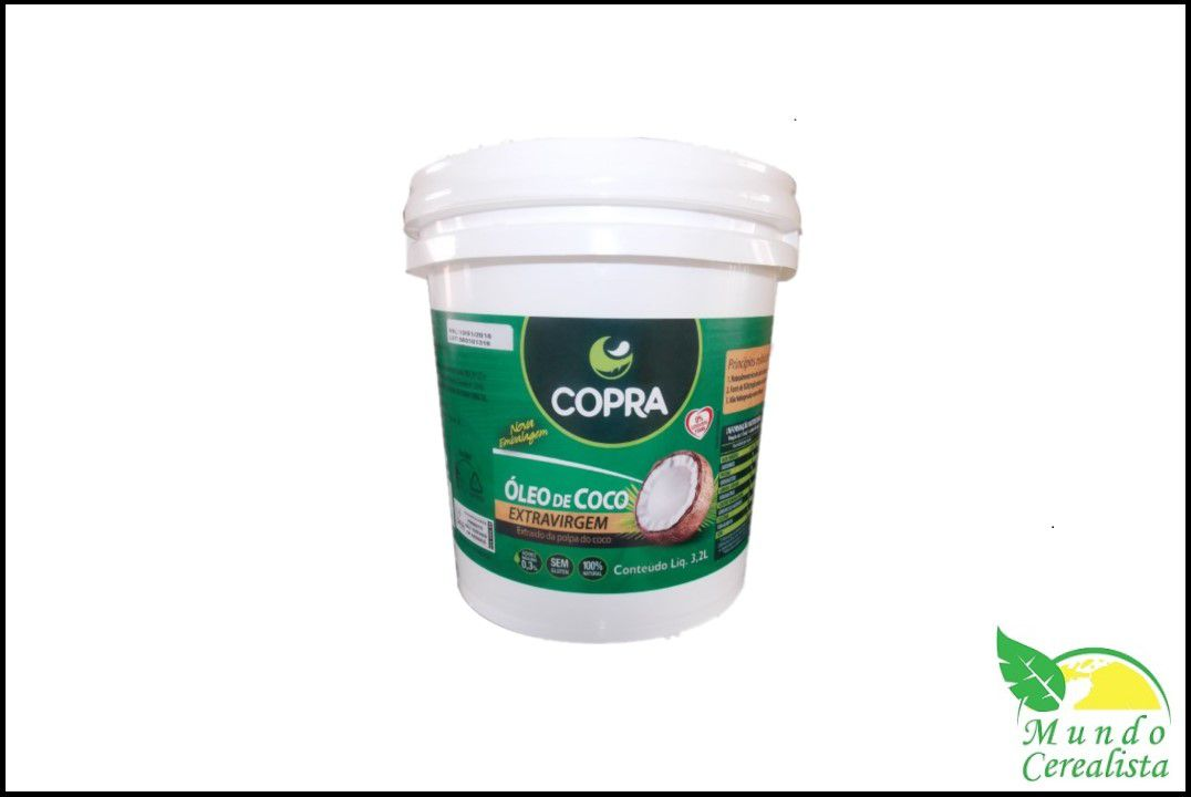 Óleo de Côco Copra Extra Virgem 3,2 lts  - Mundo Cerealista