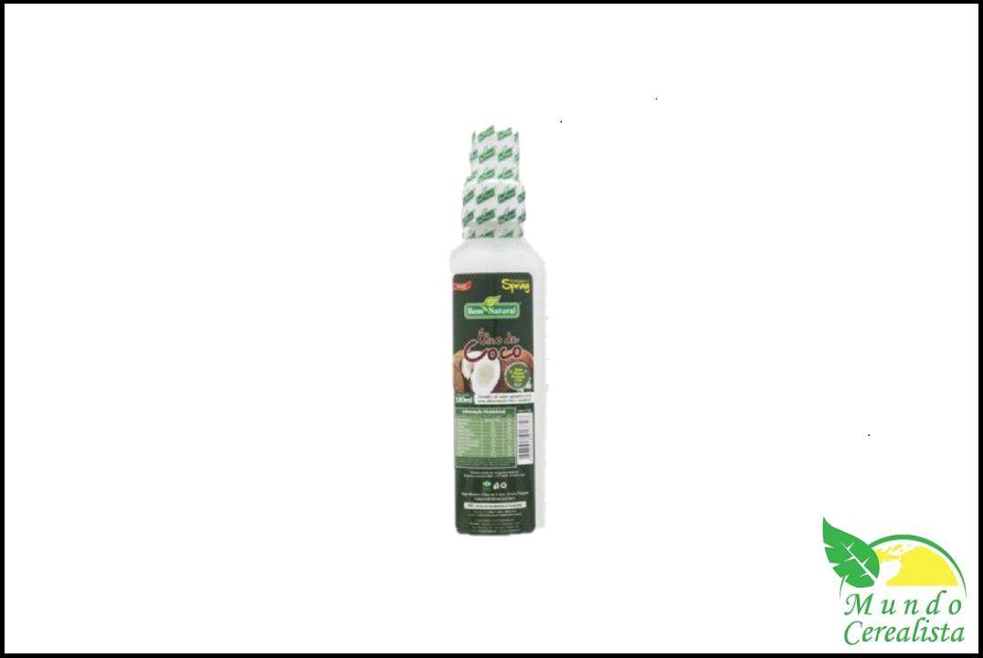 Óleo de côco em Spray 180 ml - Bem Natural  - Mundo Cerealista