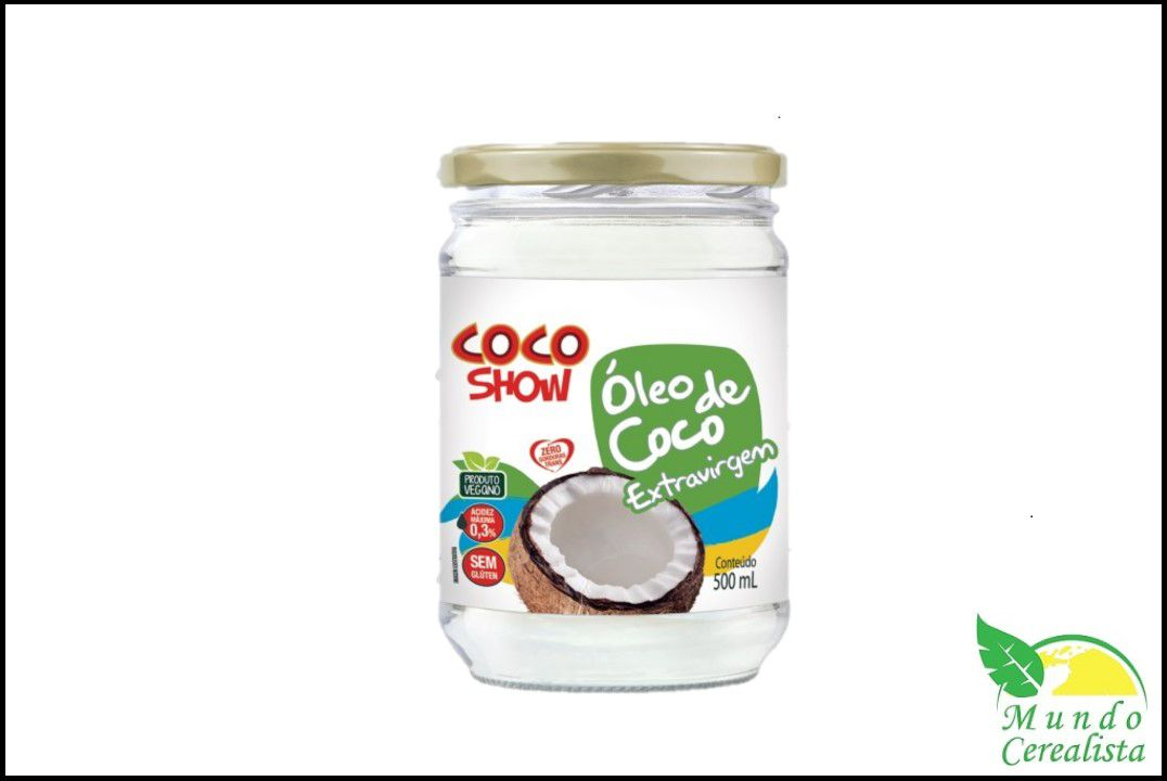 Óleo de Côco Extra Virgem Côco Show- 500 Ml  - Mundo Cerealista