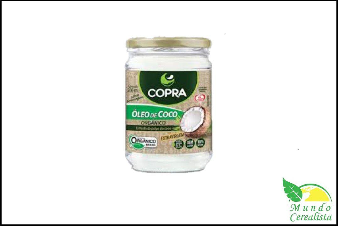Óleo de Côco Extra Virgem Orgânico Copra - 500 Ml  - Mundo Cerealista