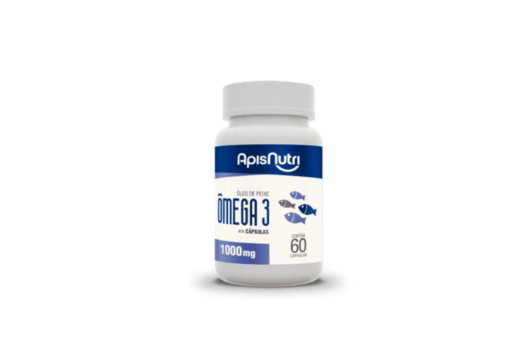 Óleo De Peixe (Omega 3) 120 Caps 1G - Apisnutri  - Mundo Cerealista