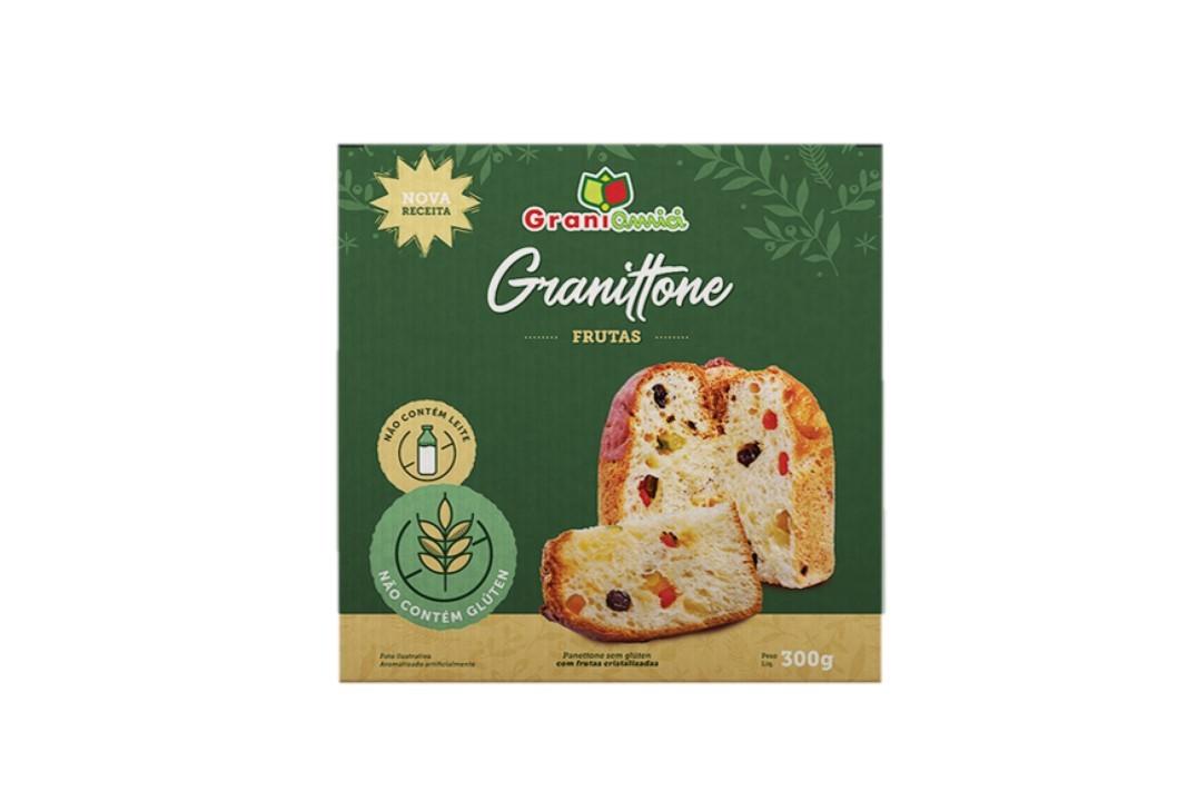Panettone sem glúten 300g - Grani Amici  - Mundo Cerealista