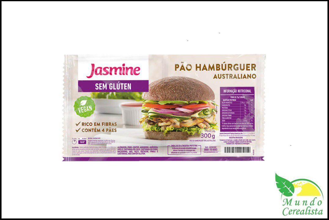 Pão de Hambúrguer Australiano 300 Gr - Jasmine  - Mundo Cerealista