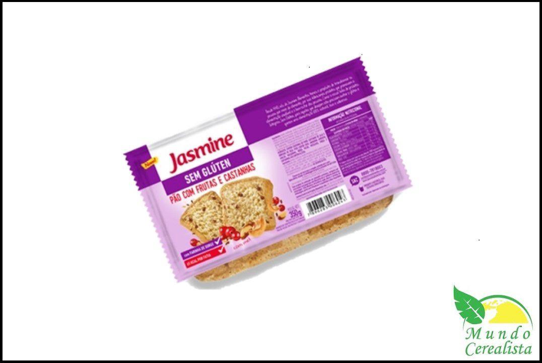 Pão Frutas e Castanhas 350G Sem Glúten - Jasmine  - Mundo Cerealista