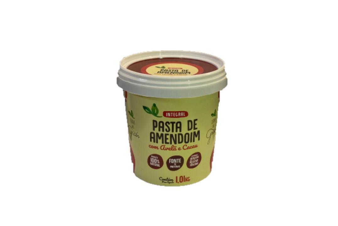 Pasta de Amendoim Avelã e Cacau Sem Glúten -Terra dos Grãos - 1 Kg  - Mundo Cerealista