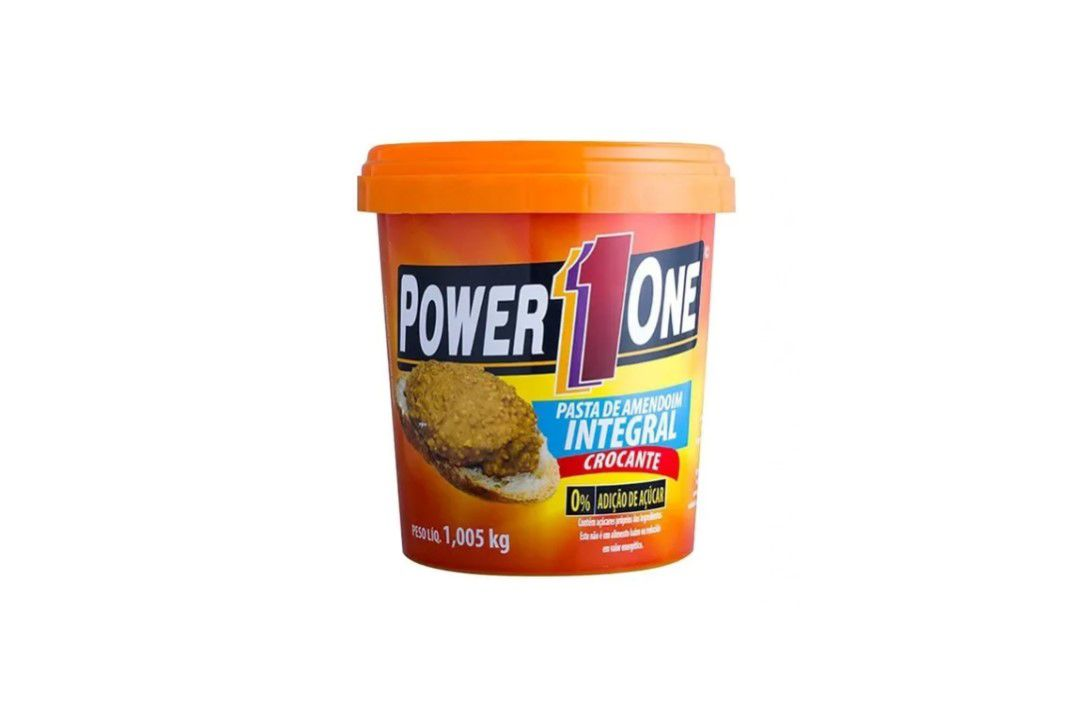 Pasta de Amendoim  Crocante 1,005 Kg - Power One  - Mundo Cerealista