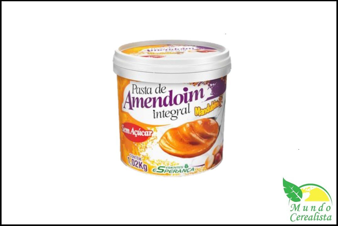 Pasta de Amendoim Integral - Mandubim - 1 kg  - Mundo Cerealista