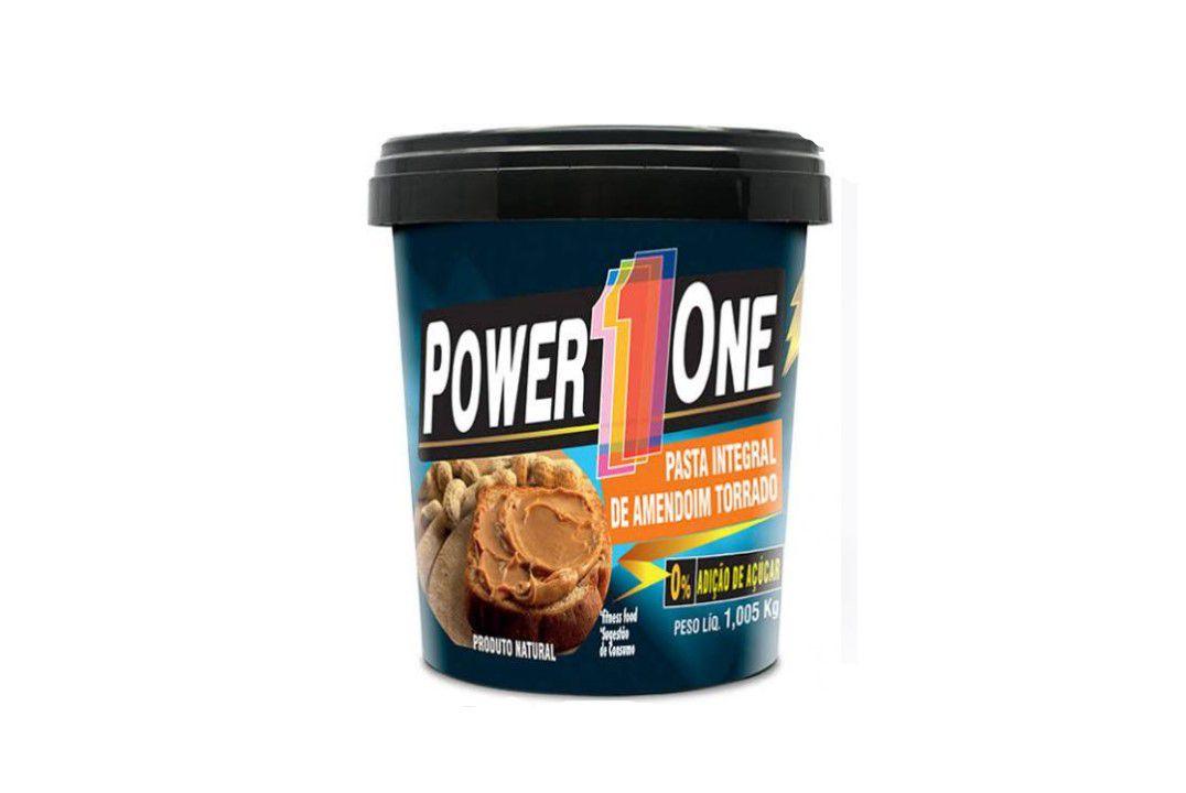 Pasta de Amendoim Tradicional 1,005Kg- Power One  - Mundo Cerealista