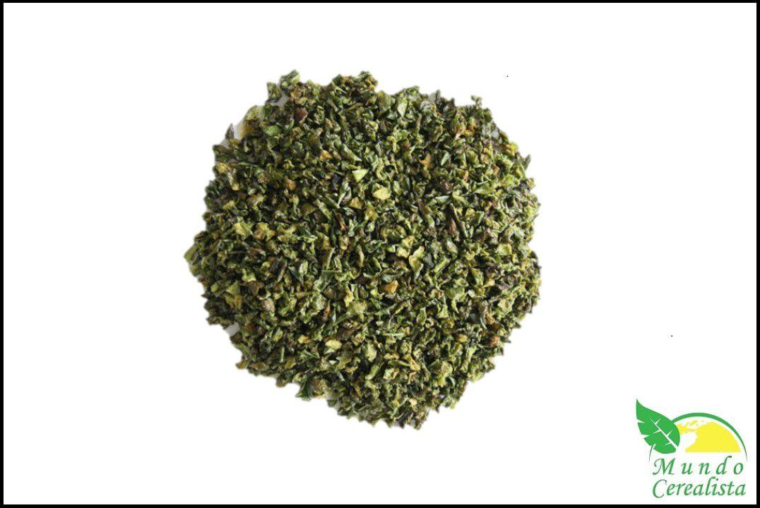 Pimentão Verde Desidratado em Flocos - Granel  - Mundo Cerealista