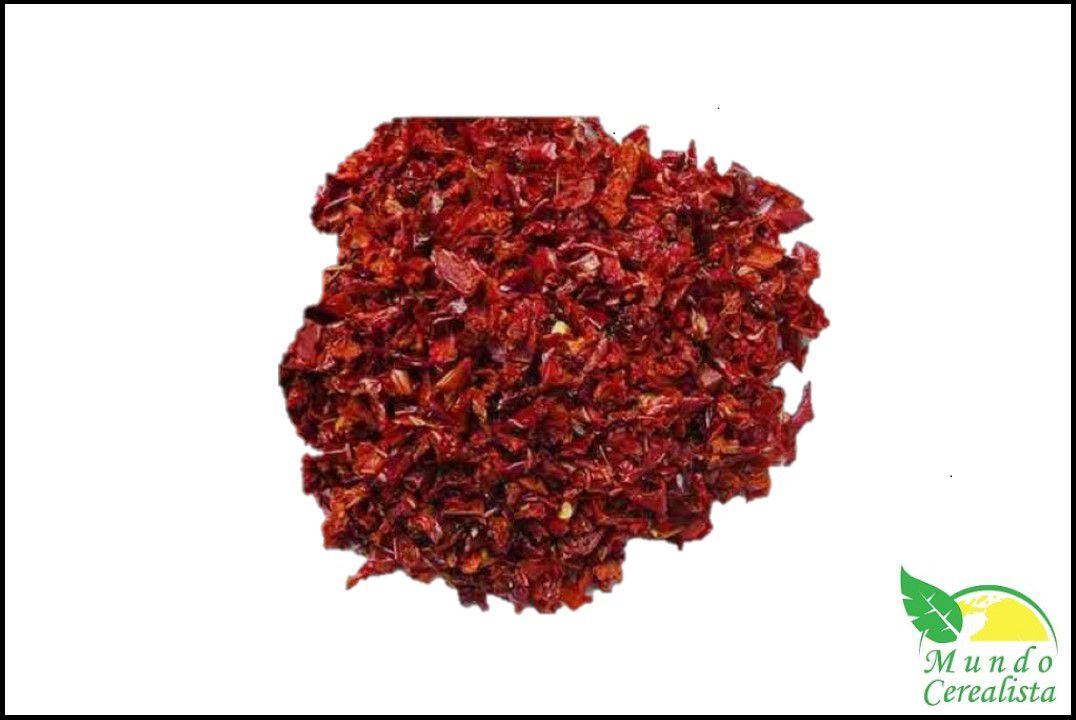 Pimentão Vermelho Desidratado em Flocos - Granel  - Mundo Cerealista