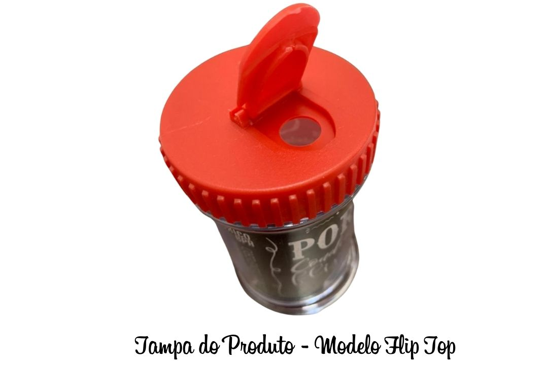 PORTA TEMPERO PLÁSTICO 10CM - BPA FREE - 1 UNIDADADE  - Mundo Cerealista