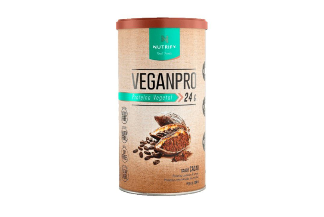 Proteína Vegana - VeganPro Cacau 550g - Nutrify  - Mundo Cerealista