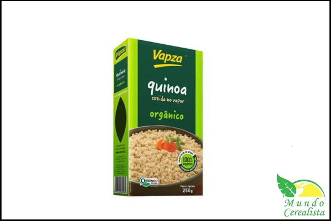 Quinoa Branca Orgânica 250G - Vapza  - Mundo Cerealista