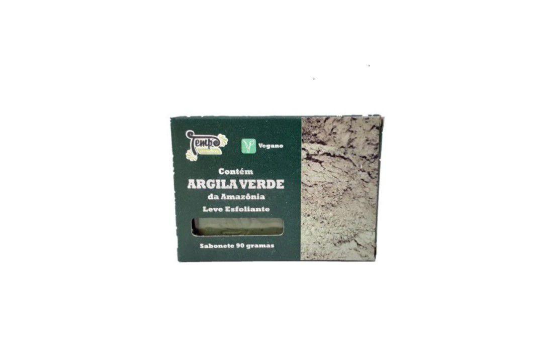 Sabonete De Argila Verde 90 Gr -  Rei Terra  - Mundo Cerealista