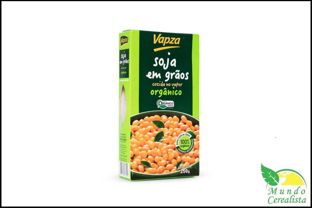 Soja Orgânica 250G - Vapza  - Mundo Cerealista