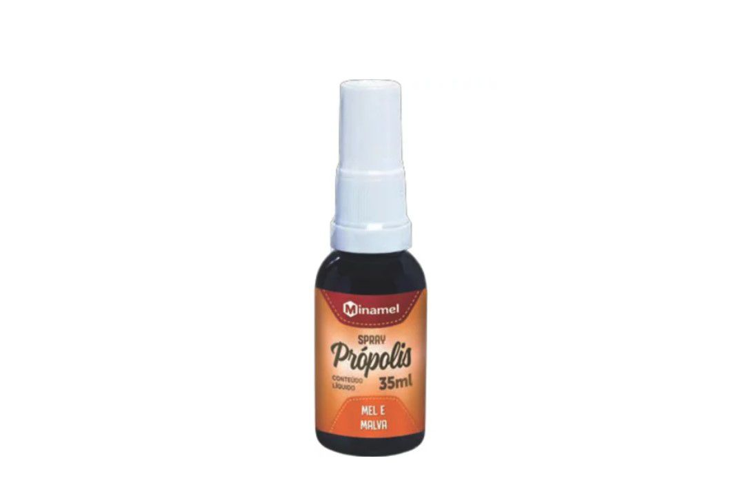 Spray Própolis, Mel E Malva 35Ml - Minamel  - Mundo Cerealista