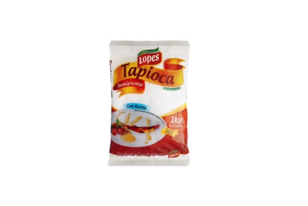 Tapioca Lopes Semi Pronta 1 Kg - Sem Glúten  - Mundo Cerealista