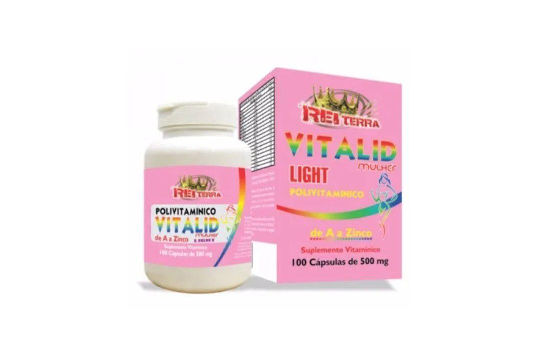 Poli vitamínico Vitalid Mulher Power (de A a Z) 100 Caps 500Mg - Rei Terra  - Mundo Cerealista