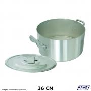 Caçarola Alumínio Profissional Hotel Plus 36 cm 17,5 Litros - Arary